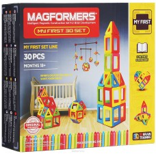 Мой первый Магформерс - безопасный, развивающий, магнитный конструктор для малышей до 2 лет