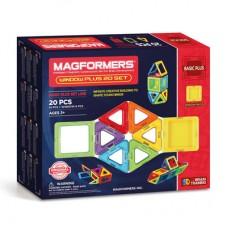 Магформерс  20 Окошки - набор для знакомства с магнитным конструктором! Изучение цветов, форм, конструирование предметов - все доступно с ним!