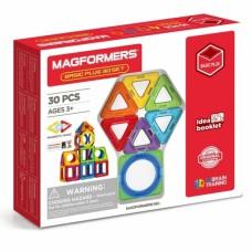 Купить Магформерс 30 Basic Plus - первый набор с круглыми магнитными деталями! Изучение цветов, форм, конструирование предметов - все доступно с ним!