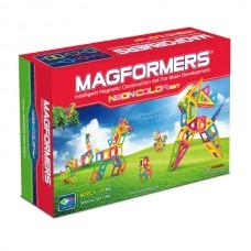 Magformers Neon Color Set благодаря ярким оттенкам привлекает внимание ребенка и создает пространство для фантазии. Совместим с другими наборами.